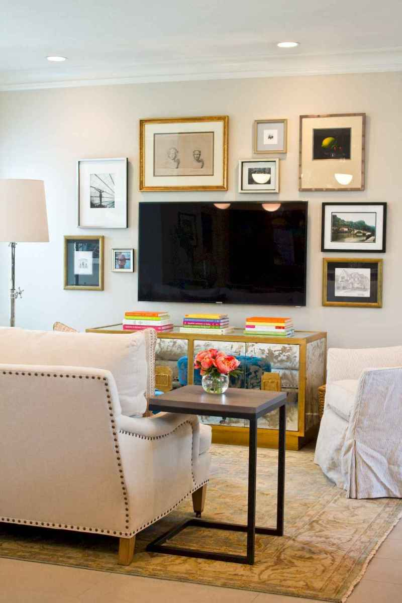 Living Room with TV Ideas: Make It Part of the Exhibition Wall