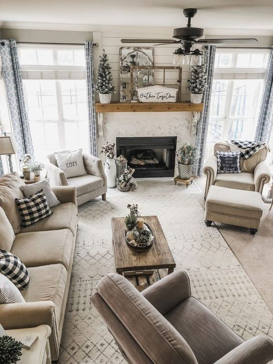 Classic Farmhouse Living Room Ideas 5