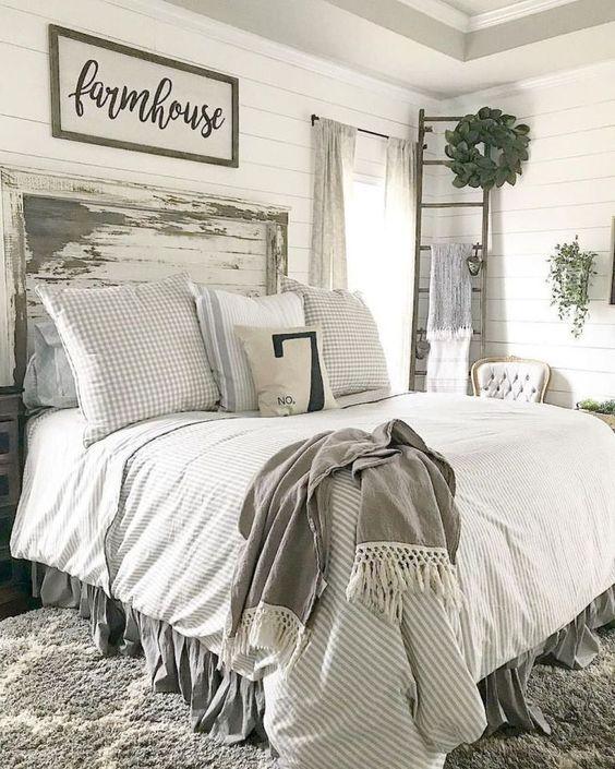 Farmhouse Bedroom Decor: Neutral Rustic Nuance