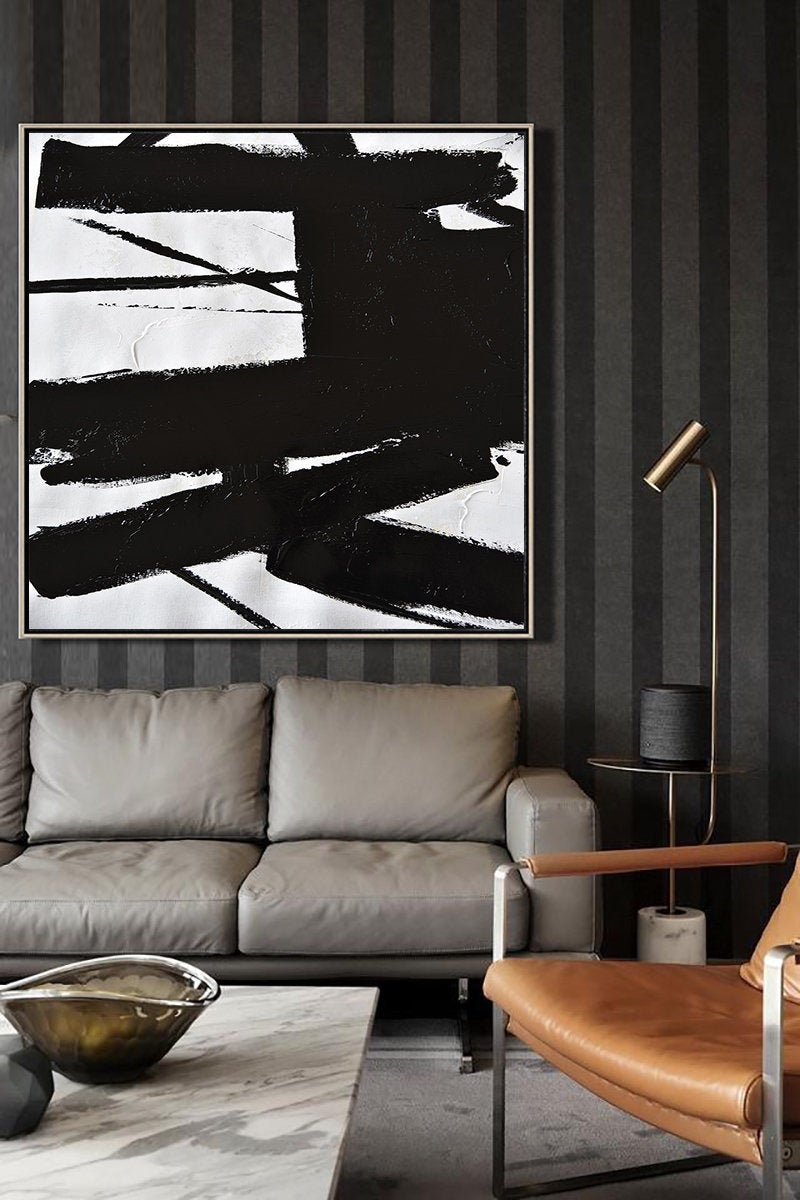 Living Room Decor Ideas: Abstract Painting
