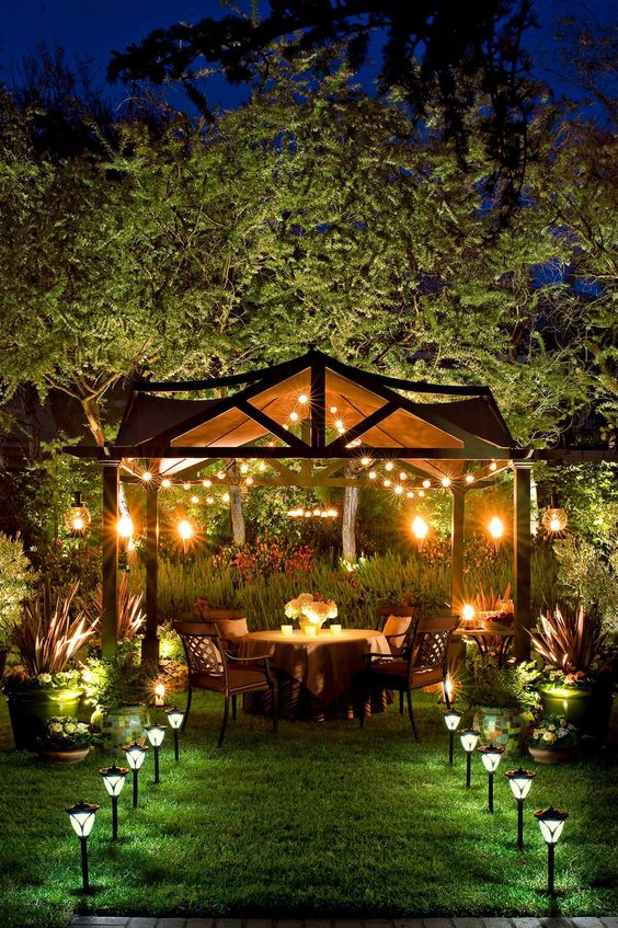 Backyard Lighting Ideas: Make A Romantic Vibe