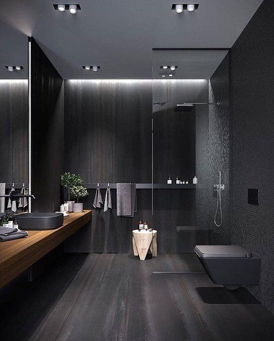 Bathroom Colors Ideas: Gorgeous All-Black