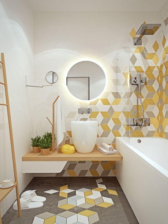 Bathroom Colors Ideas: Fresh Decorative Yellow