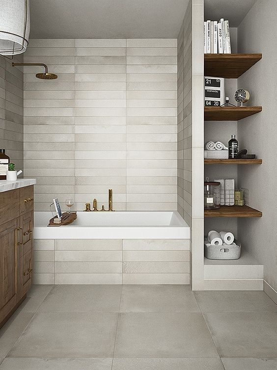 Bathroom Shelf Ideas: Beautiful Wooden Shelf