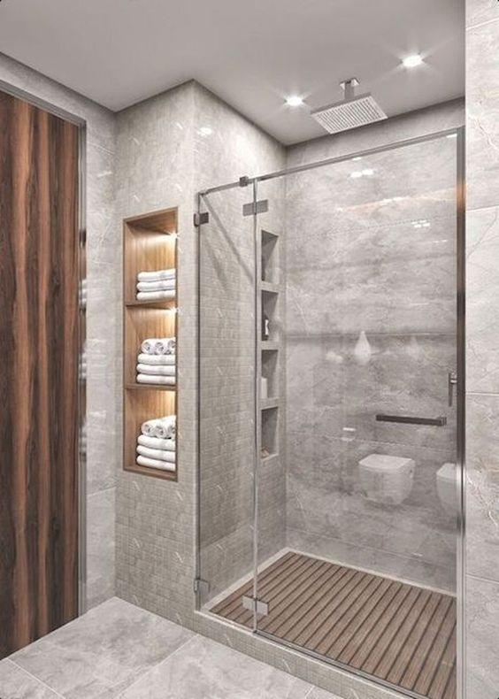 Bathroom Shelf Ideas: Double Useful Shelves