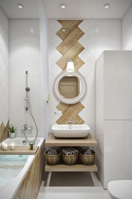 Bathroom Wood Ideas: Decorative Item