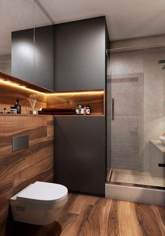 bathroom wood ideas 16
