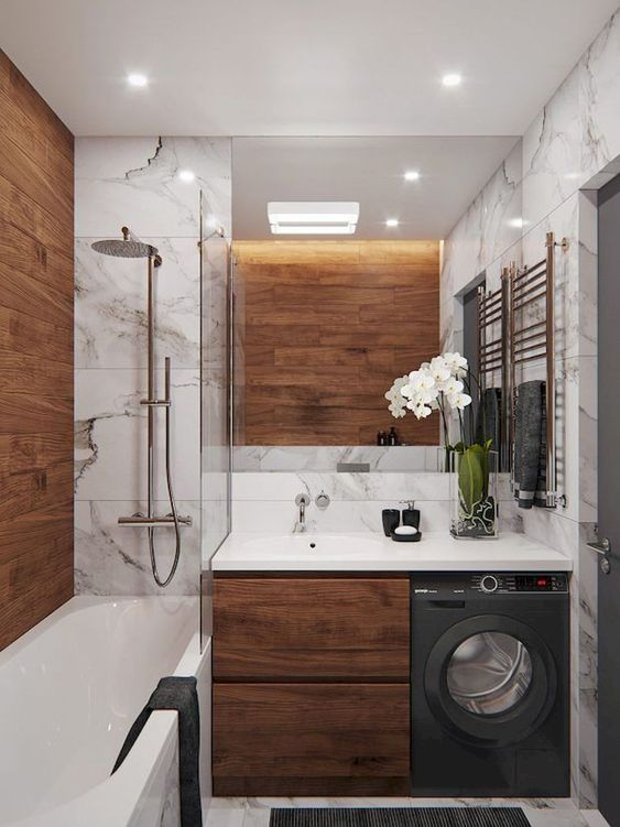 bathroom wood ideas 23