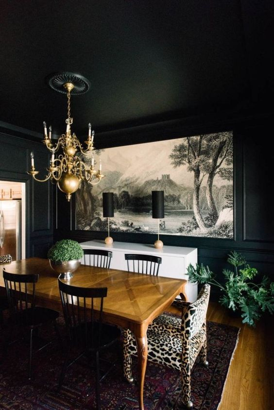 black dining room ideas 11