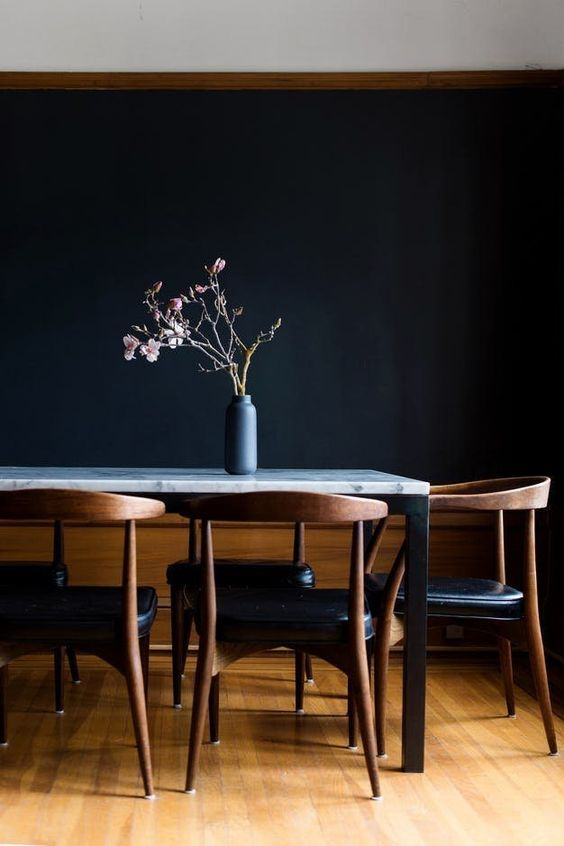 black dining room ideas 13