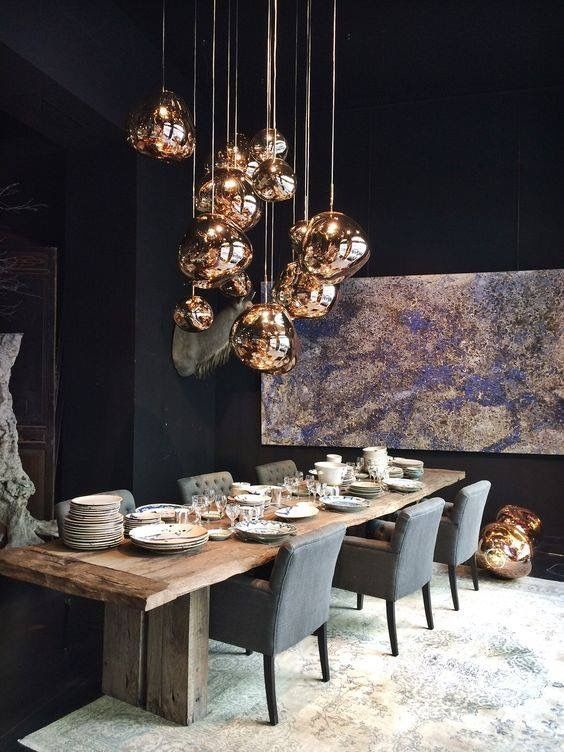 black dining room ideas 14
