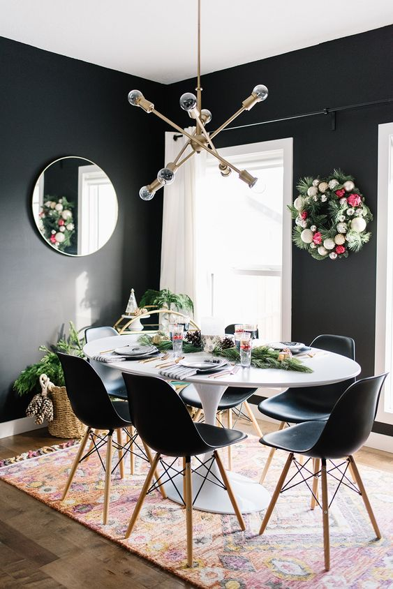 black dining room ideas 16
