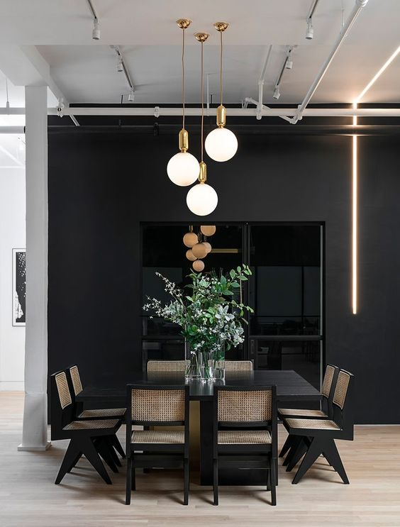 black dining room ideas 17