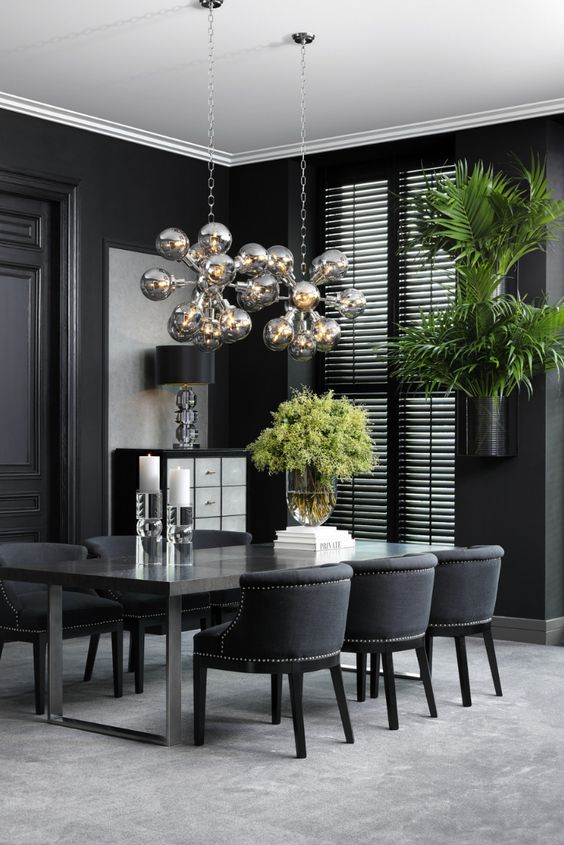 black dining room ideas 19