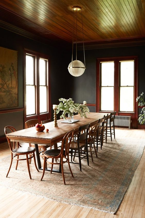 black dining room ideas 20