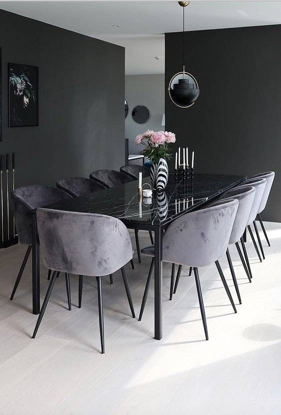 black dining room ideas 21
