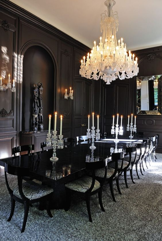 black dining room ideas 22