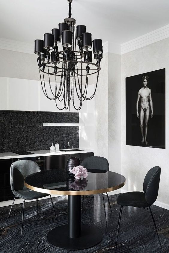 black dining room ideas 23