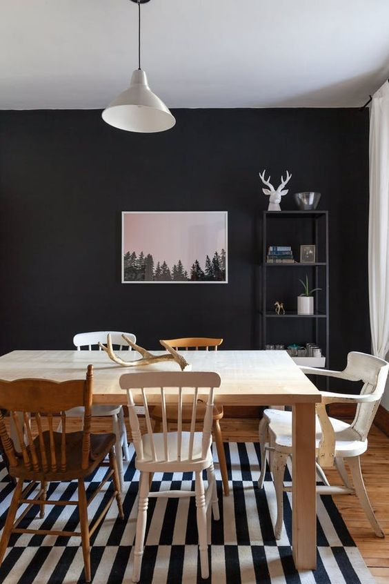 Black Dining Room Ideas: Mis Them All