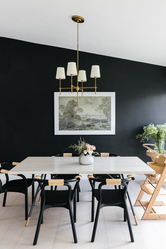 black dining room ideas 4