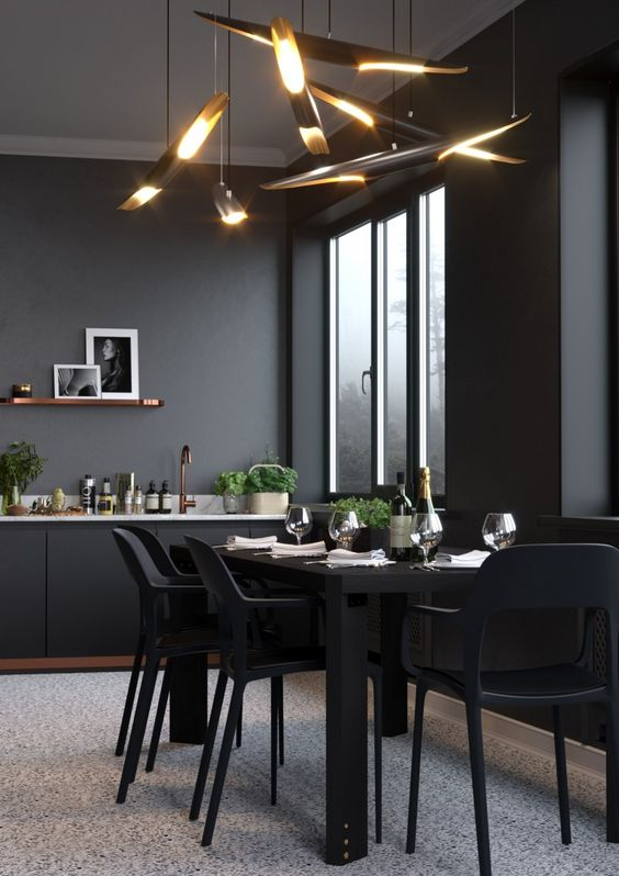 black dining room ideas 5