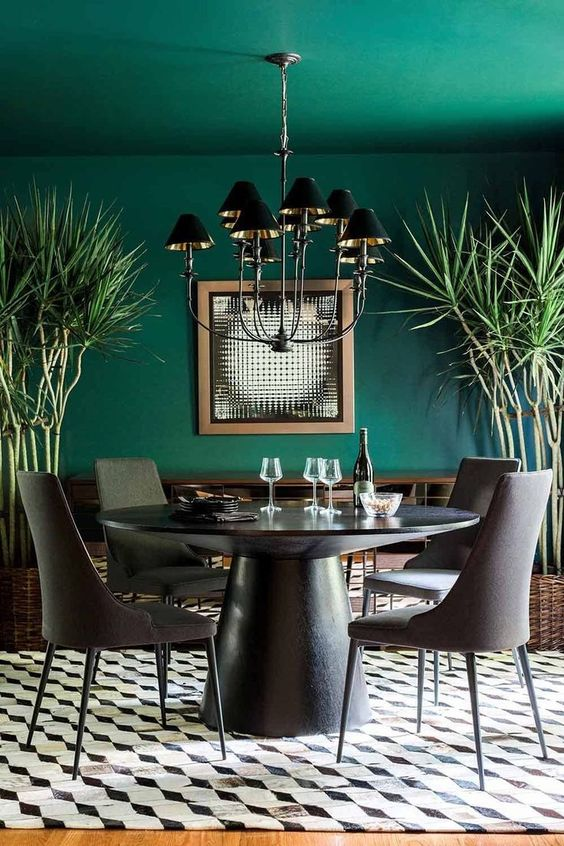 black dining room ideas 6