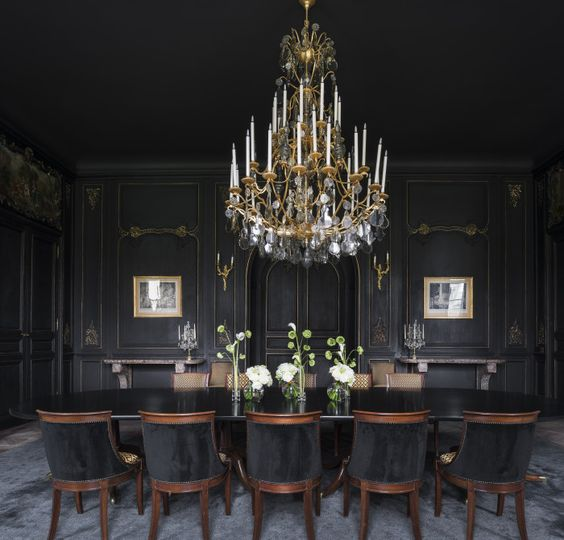 black dining room ideas feature