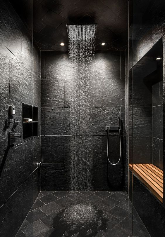 Dark Bathroom Ideas: Put Eye-Cathing Element