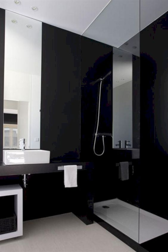 dark bathroom ideas 11