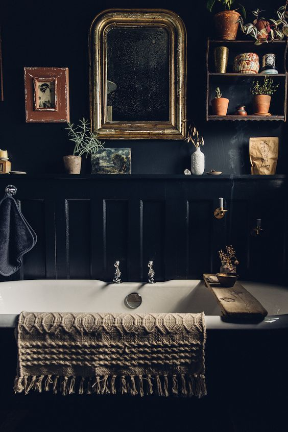 dark bathroom ideas 14