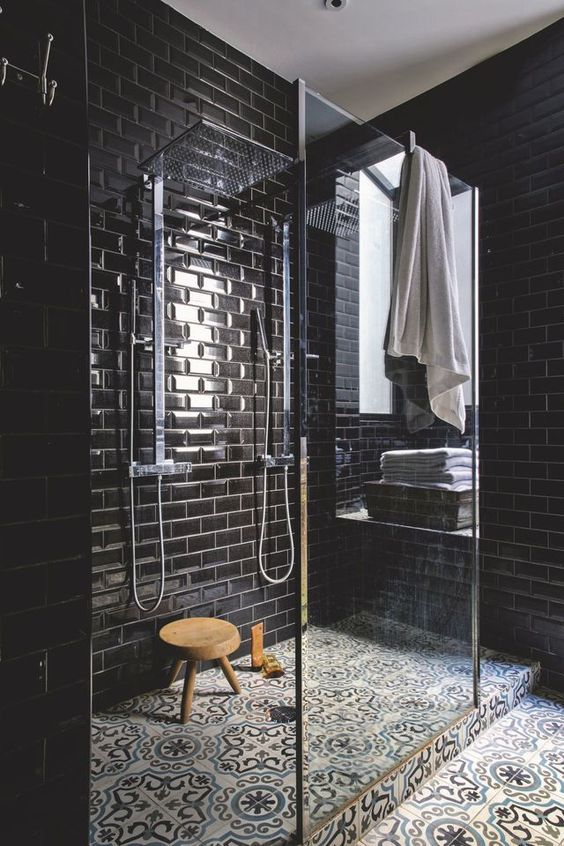 dark bathroom ideas 17