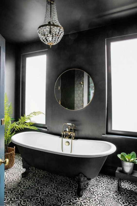 dark bathroom ideas 18