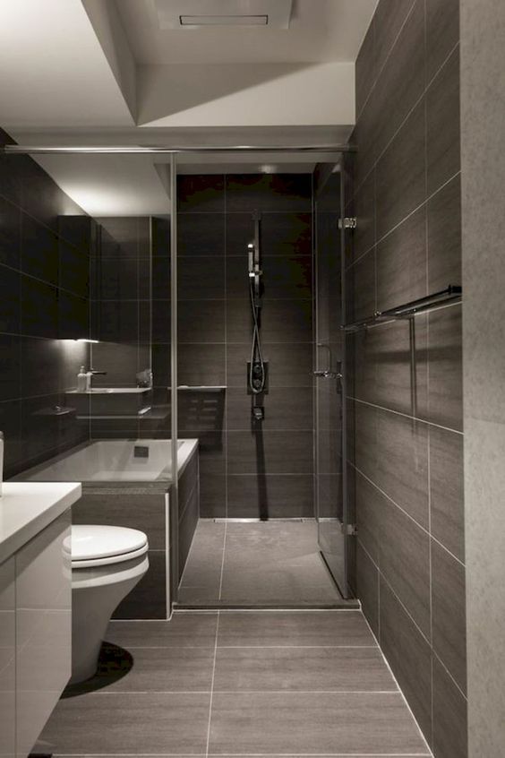 dark bathroom ideas 22