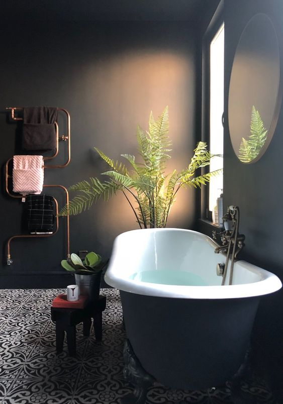 dark bathroom ideas 23