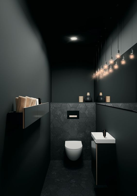 dark bathroom ideas 25