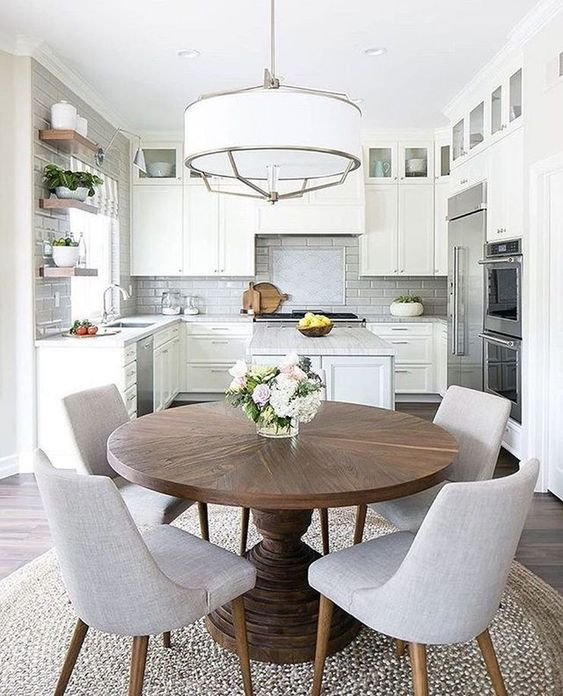 Dining Room Colors Ideas: Simple All-White