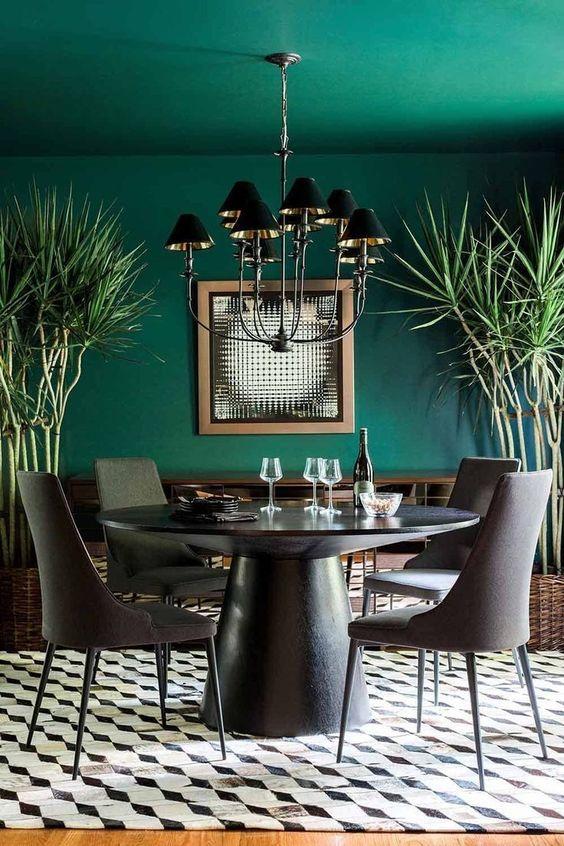 Dining Room Colors Ideas: Elegant Green