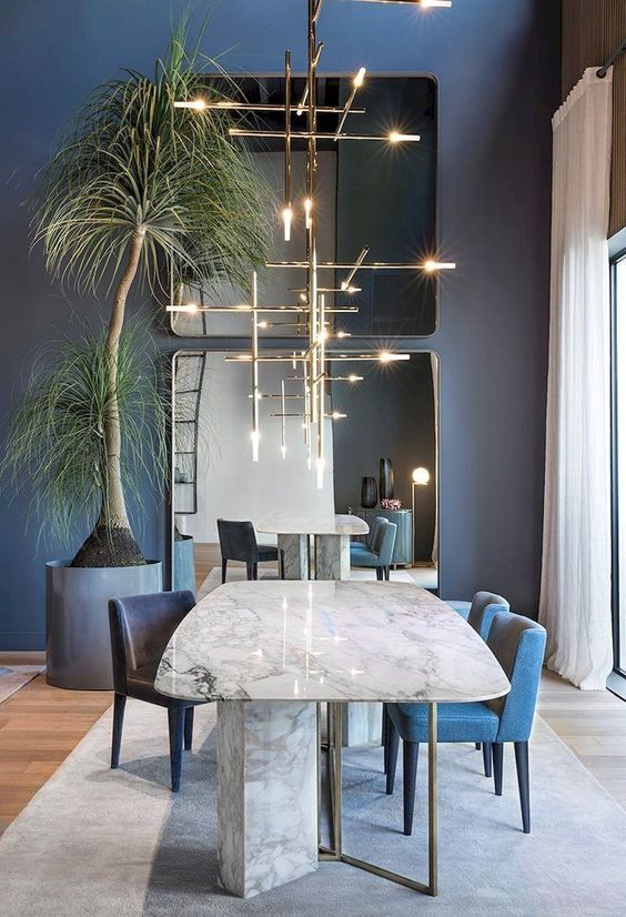 Dining Room Colors Ideas: Enchanting Navy