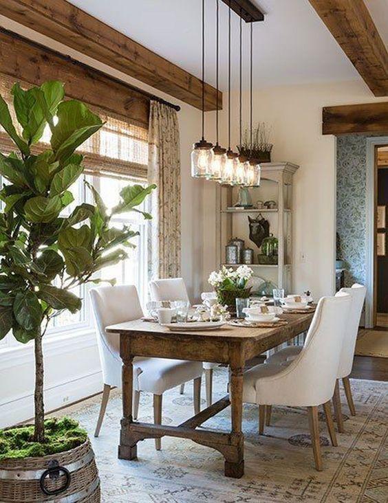 Farmhouse Dining Room Ideas: Simple Rustic