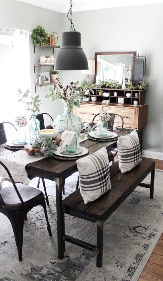 farmhouse dining room ideas 23
