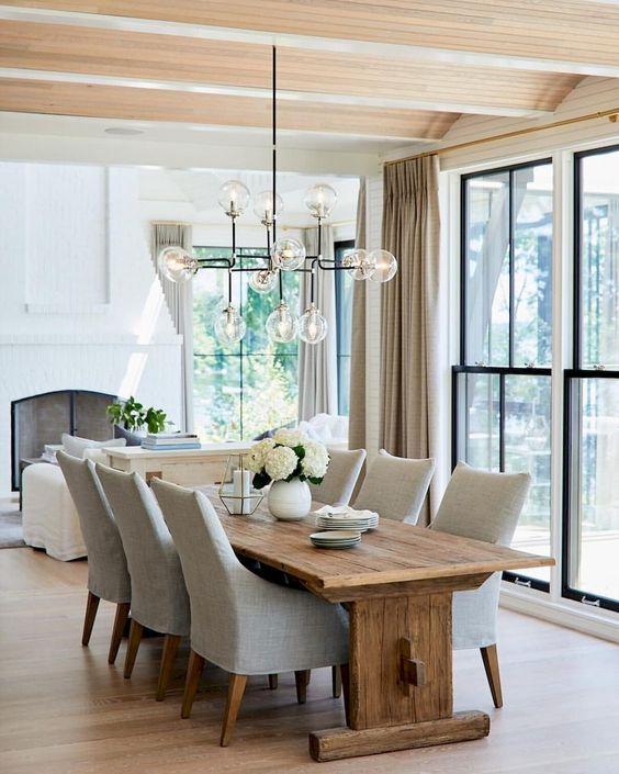 Farmhouse Dining Room Ideas: Formal and Modern