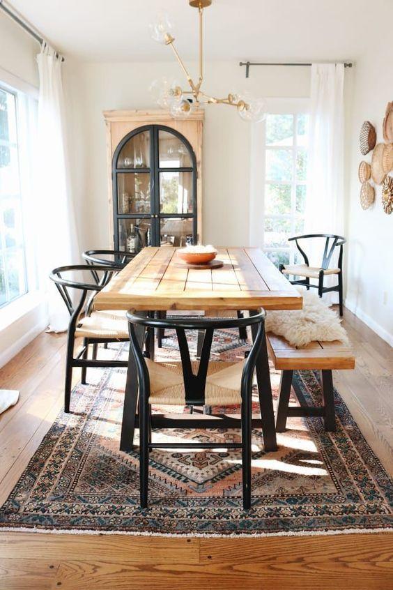 Farmhouse Dining Room Ideas: Combine Them