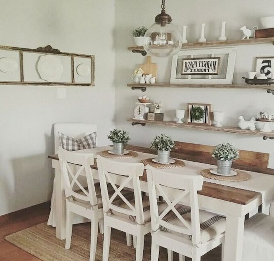 Home Design Backyard Ideas: Alluring Farmhouse Dining Room Ideas To Make Cozy Vibe