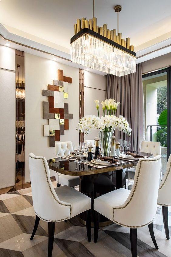 glam dining room ideas 15