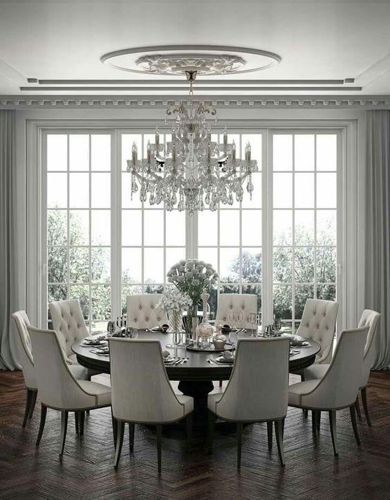 glam dining room ideas 19