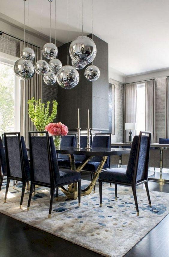Glam Dining Room Ideas: Put Something Shiny
