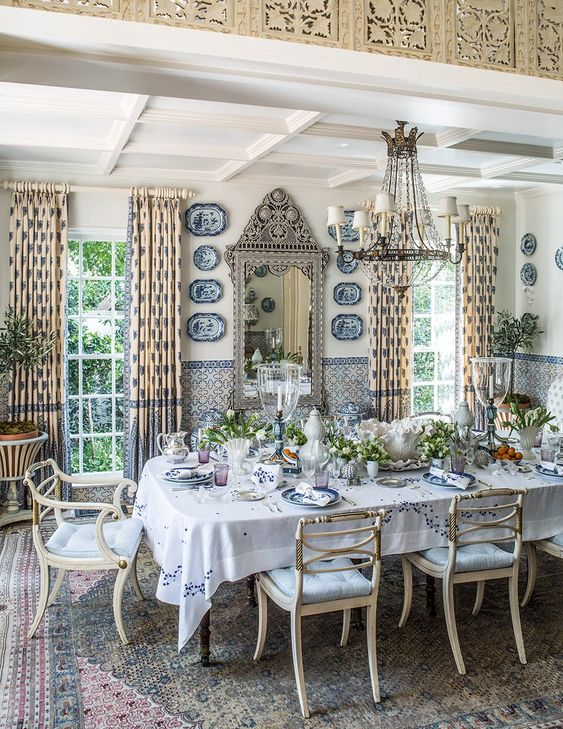 glam dining room ideas 21