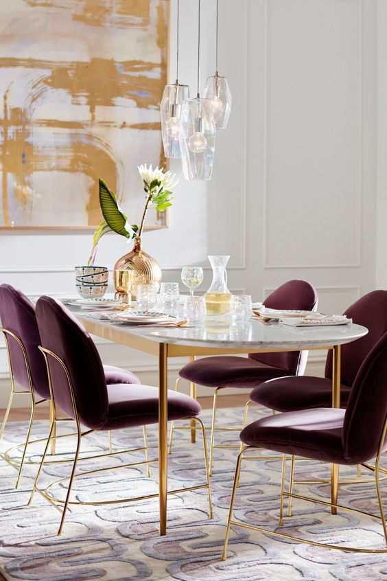 glam dining room ideas 24