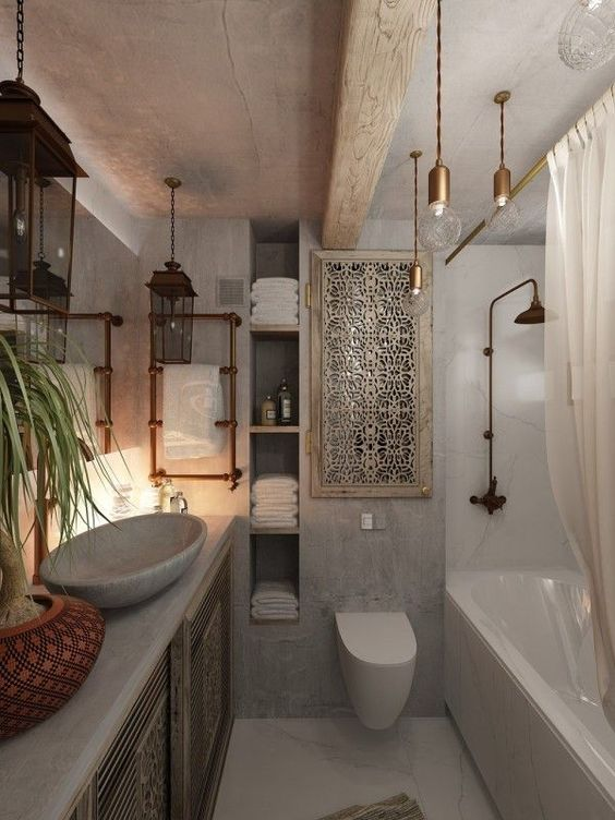 Industrial Bathroom Ideas: Decorative Pipes