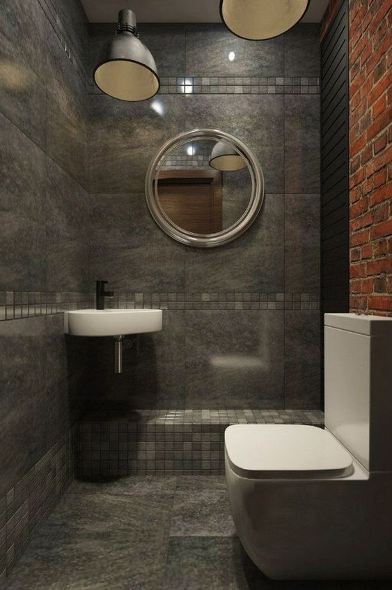industrial bathroom ideas 24